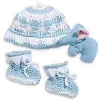 Crochet Hat & Booties