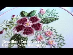 Hand embroidery designs. Hand embroidery for beginners. Flower stitch design. - YouTube
