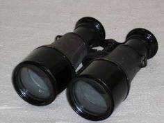 Antikes Fernglas für Jäger Militär Feldstecher Lederüberzug hunter binocular
