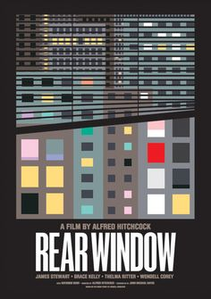 Alfred Hitchcock's Rear Window starring Jimmy Stewart and Grace Kelly.  Find more interesting boards here: http://www.pinterest.com/swisstoons/