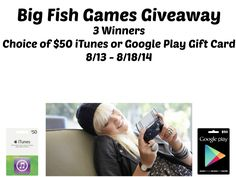 $50 iTunes or a $50 Google Play GC Giveaway (Ends 08/18/14) - It's Free At Last - From products to movies, recipes and more. Come see how my...