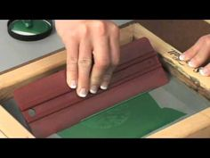 Screen Printing on Paper - YouTube