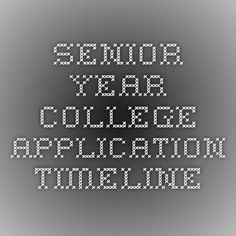 A Complete College Application Timeline for High School Seniors Senior Year College Application Timeline – College Scholarships Tips High School Counseling, Career Counseling, School Counselor, College Checklist, College Planning, College Hacks, Senior Year Of High School, High School Seniors, School Tips