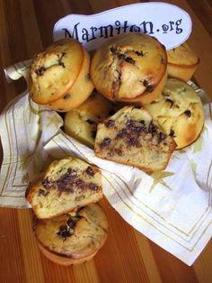 Recette de Muffins aux pépites de chocolat