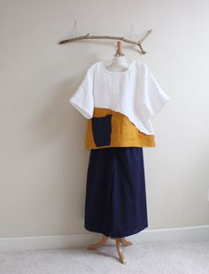 custom linen top and cotton [ants by annyschooecoclothing