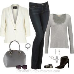 The Look by fiftynotfrumpy on Polyvore. Visit my Facebook page to learn why each piece was chosen.
