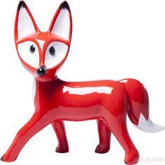 Figura decorativa  Standing Fox rojo
