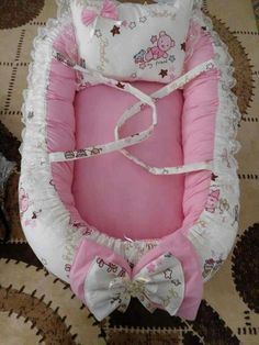 Baby Girl Bedding, Baby Bedding Sets, Baby Pillows, Baby Bassinet, Baby Cribs, Baby Doll Carrier, Baby Bumper, Baby Fruit, Baby Sewing Projects