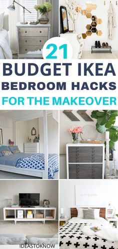 Refurbish your bedroom with some genius IKEA hacks that you must definitely try out this summer. Go through these ideas of IKEA bedroom hacks and I can vouch for them that you're absolutely going to admire them. Ikea Headboard, Ikea Hack Bedroom, Ikea Kura Bed, Bedroom Hacks, Ikea Living Room, Ikea Furniture Hacks, Cheap Furniture, Ikea Hacks, Cool Nightstands