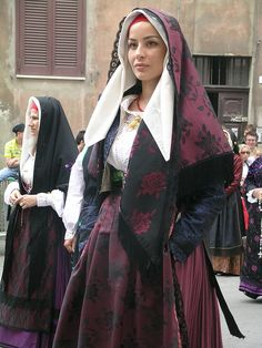 Traditional Costume of Terralba birthplace of my grandfather Raimondo Serra