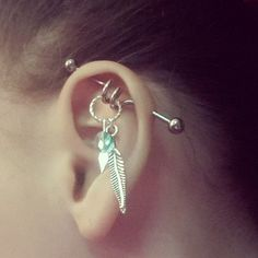 Handcrafted Dream Catcher Industrial Barbell #bodycandy