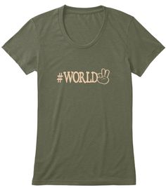 #Worldpeace shirt now available for limited time! Pre-order yours before it's too late! Help support world peace.  #world #peace #teespring #tshirts #womensfashion #hashtagshirt #hashtag