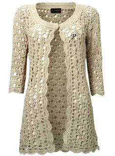 Crochet Free: Learn step by step how to crochet jacket yarn ☂ᙓᖇᗴᔕᗩ ᖇᙓᔕ☂ᙓᘐᘎᓮ http://www.pinterest.com/teretegui
