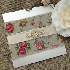 Lovely country style invitation design