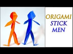 How to Make an Origami Person (Intermediate Level) - YouTube