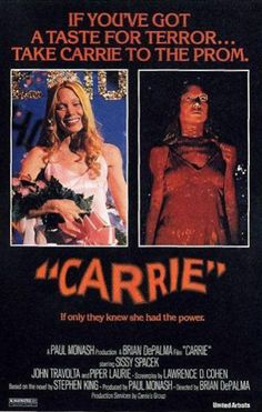 CARRIE (1976): A young, abused and timid 17-year-old girl discovers she has telekinesis, and gets pushed to the limit on the night of her school's prom by a humiliating prank. Academy Award nominations for Best Actress and Best Supporting Actress. Story by Stephen King.