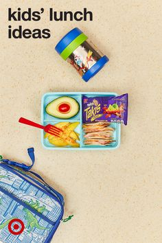 For an easy kids' lunch idea for school, just keep it simple. Make a fruit-based bento box paired with crackers for an added savory crunch. Shop all the ingredients you need to prep fun, kid-friendly lunches at Target.
