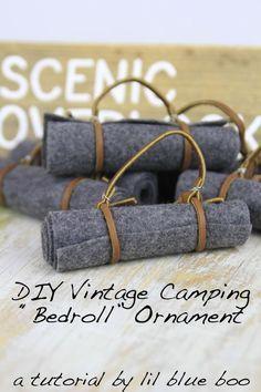 DIY Camping and Hiking Ornaments - Vintage Bedroll #diy #camping #lifeoutside…