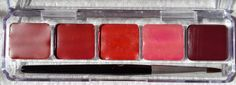 Elea Blake. True/Cool winter lipstick palette (dec 2013). the middle is not actually that colour..