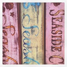 SALE,Distressed Decor,Pink Wood Sign,Painted Sign,Rustic,Beach,Seaside Cottage Sign,Shabby Chic Sign, Cottage Chic,Pool House , Vintage Sign on Etsy, $32.00