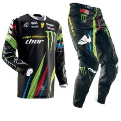 Thor Phase SP13 Pro Circuit Monster Energy Motocross Kit  Description: The Thor Phase 2013 Pro Circuit Monster Energy Motocross Kit       is packed with features..              Jersey Specification                      Shaped knit cuffs and collar for less restriction                    100% polyester moisture wicking micro-mesh construction           ...  http://bikesdirect.org.uk/thor-phase-sp13-pro-circuit-monster-energy-motocross-kit-2/