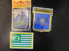 SET OF THREE (3) COLLECTOR DECALS VARIOUS  #Unbranded