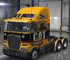 Kenworth for ATS - Euro Truck Simulator 2 Mods Big Rig Trucks, Dump Trucks, New Trucks, Custom Trucks, Cool Trucks, Fire Trucks, Pickup Trucks, Vw Vintage, Vintage Trucks
