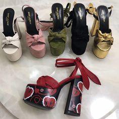 Ysl Saint Laurent woman platform sandals strap ankle. platforms 5.5cm. Heels 14cm. Saint Laurent Shoes, Women Oxford Shoes, Gold Shoes, Thick Heels, Motorcycle Boots, Luxury Shoes, Fashion Boots, Ankle Strap, Casual Shoes