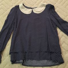 Dress blouse Worn a few times in great condition, very comfortable, fits size S or M Tops Blouses
