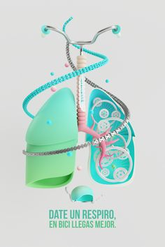 LUNGBIKE!!! by AARON MARTINEZ, via Behance #3D #design #poster