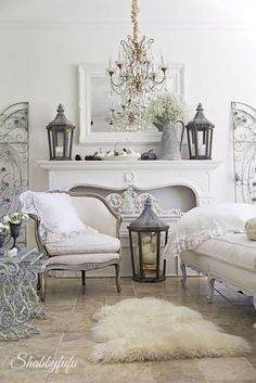 Fall Home Tour 2015 - My home at Shabbyfufu with a French country feel.