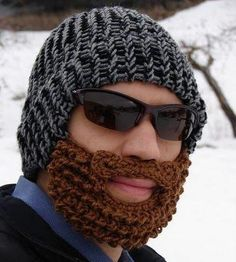 313efe5a2d4 Awesome hat for guys without beards! Crochet Mustache