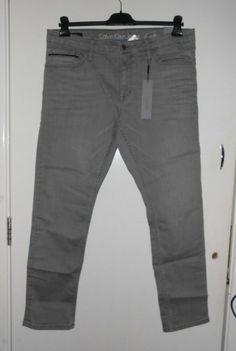 e17195e696d1 Mens Calvin Klein Jeans Slim Straight Jeans Grey W38 32L CS171 GG 11 # fashion #
