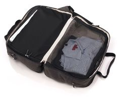 Malcolm Fontier Getaway Duffel Bag: I love this! A bag and packing cubes in one! Why is he not still selling this?