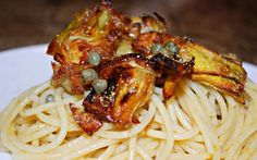 <p>I did the pasta with a lemon butter sauce, but you could experiment with whatever sauce you prefer.</p>
