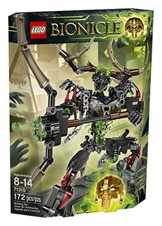 Sent by Mukata Umarak the Hunter is an impressive opponent! Shoot the poisonous hunting bow at the Toa or power up with the Golden Mask of Control for mind control powers. Trick the elemental creatu...