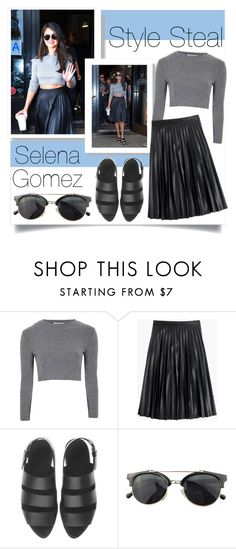 """Style steal : Selena gomez"" by foreverfashionfever101 ❤ liked on Polyvore featuring Glamorous, J.Crew, Alexander Wang, Chicnova Fashion, selenagomez and stealsteal"