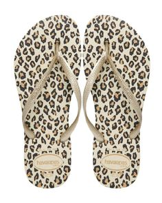 Flip-flops by Havaianas. These rose gold Havaianas will add an exotic touch to…