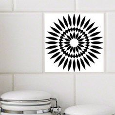 Tile Tattoos made by StickPretty White Background Tile Decals Victorian Scroll Black RETile Decal Tile Stickers