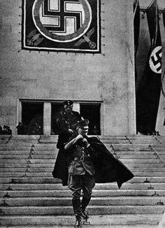 Adolf Hitler leaving the Nuremberg Party Congress - 1936.