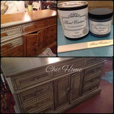 Before and after by Chic Home using Paint Couture!(TM) love the Zinc Glaze!