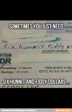 Writing checks:D