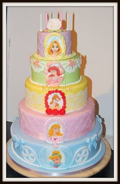 Pastel princess tiered cake