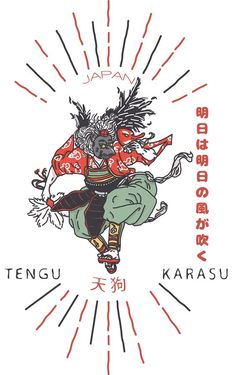 TENGU TEES DESIGN 2015 - JAPAN KARASU 天狗 on Behance: