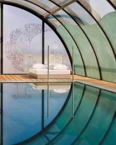 Indoor swimming + nap corner. Looks like heaven to me!