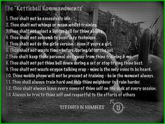 Kettlebell Kommandments