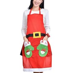 Cheap apron disposable, Buy Quality apron black directly from China aprons logo Suppliers:          Christmas Decorations Cute Santa Claus Kitchen Restaurant Cooking Aprons With Pocket Gift Red   &nbsp