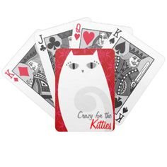 Playing cards featuring a pretty white & gray kitty - text can be customized for a unique gift idea! Great for personal gifts as well as promoting your business #cards #deck #custom #gift #cute #cartoon #cat #kitty #white #red #personalize #customize #art #illustration #character #animal #feline #pretty #vet #veterinarian #shelter #rescue #pet #shop #petshop #boutique #business #promo #promote #marketing #game #game #night #girl #girly #fun #cat #lady #crazy #cat #lady #unique #grey #gray