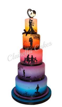 """Love Story"" Wedding Cake.  This cake I think took Gold this year at Cake International.  Beautiful!!!!"
