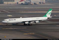 Mahan Air (Iran) Airbus (registered EP-MMA) taxiing at Dubai Photo Online, Taxi, Airplanes, Iran, Dubai, Aviation, Aircraft, Commercial, Planes